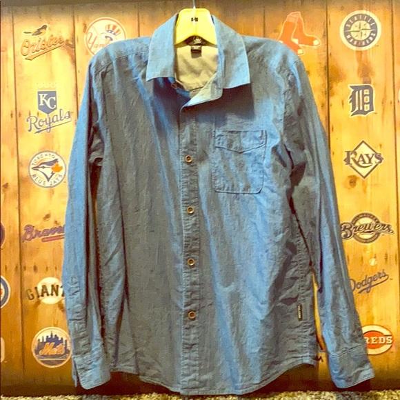 Volcom Other - Volcom boys chambray denim shirt 10y